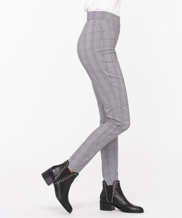 Microtwill Plaid Super Slim Leg, Black/Pearl, hi-res