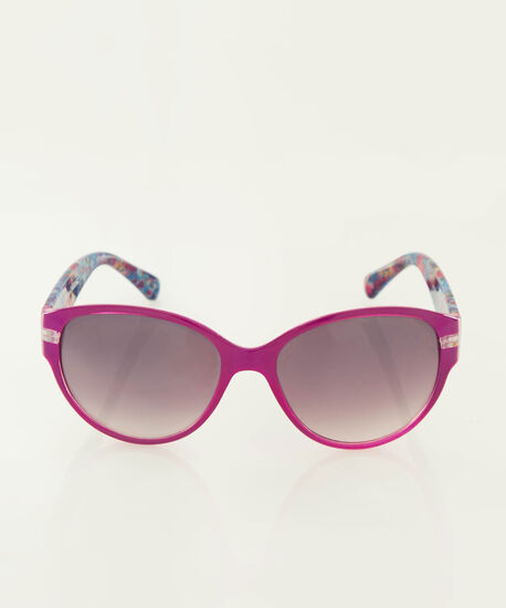 Two-Tone Cateye Sunglasses, Purple/Pink, hi-res