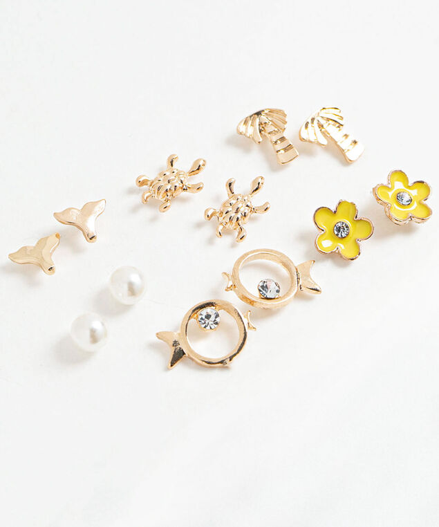 Summer Stud Earring 6-Pack, Assorted