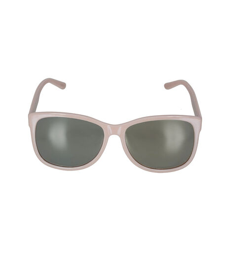 Pink Mirrored Lens Sunglasses, Pale Pink, hi-res