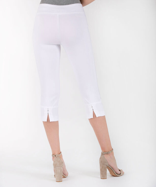 Back Slit Microtwill Capri, True White, hi-res