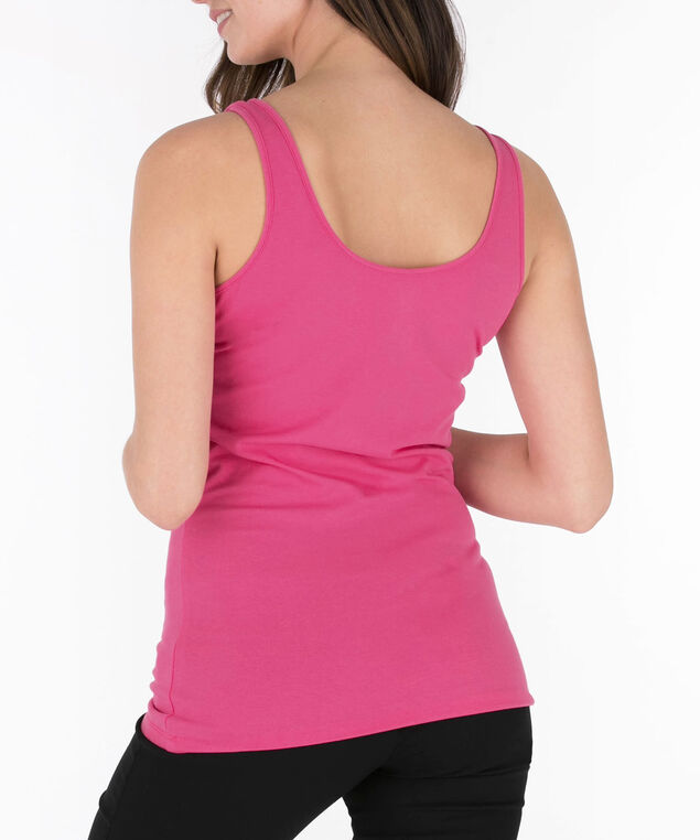 Scoop Neck Cami, Bright Pink, hi-res
