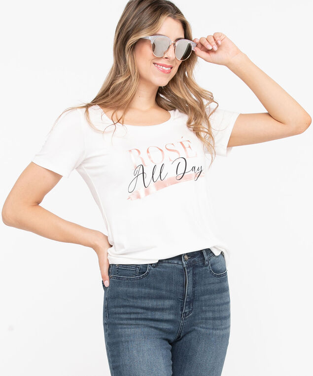 Graphic Scoop Neck Tee, Pearl, hi-res