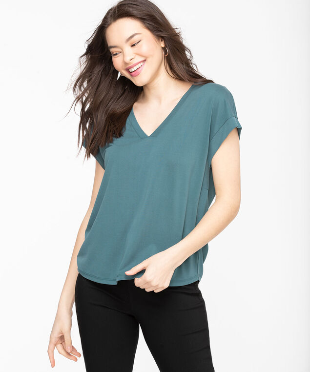 Eco-Friendly Extended Sleeve Top, Mallard Blue