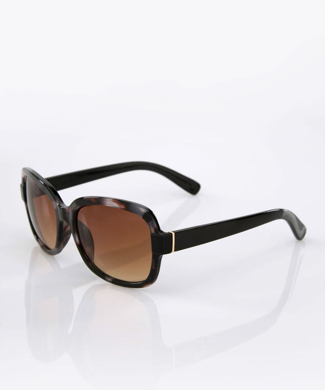 Ombre Square Sunglasses, Espresso/Gold, hi-res