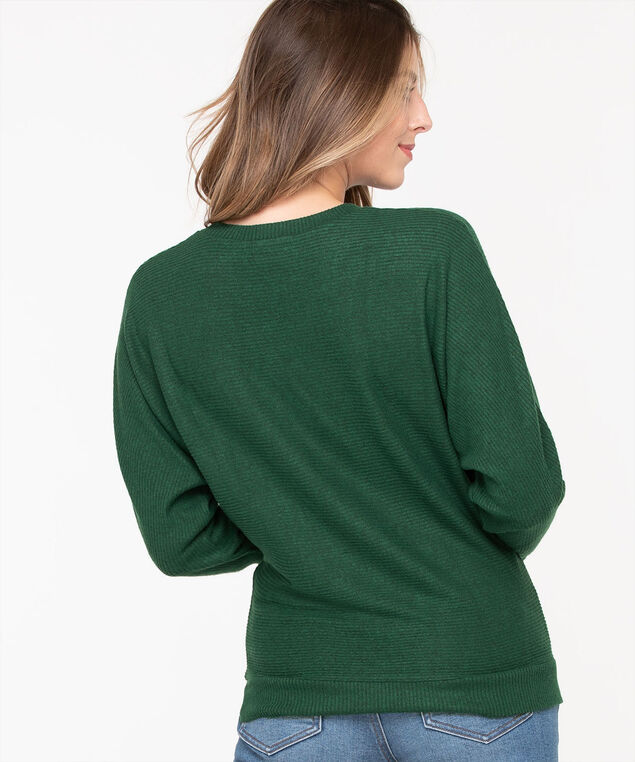 Dolman Sleeve Lightweight Knit Top, Cypress, hi-res