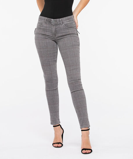 "Democracy ""AB""solution Plaid Jegging, Grey/Charcoal, hi-res"