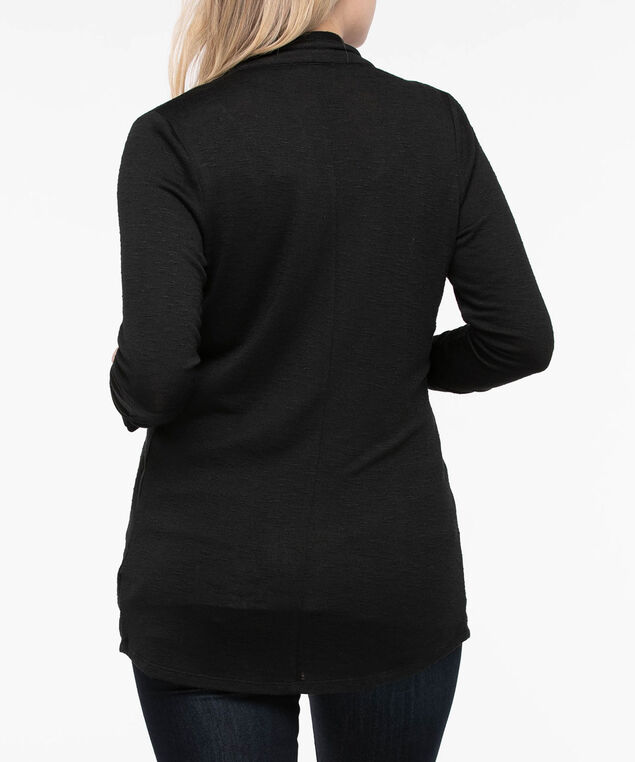 Shawl Collar Cardigan, Black, hi-res