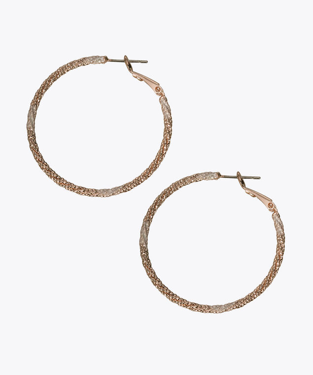 Painted Metal Hoop Earring, Rose Gold, hi-res
