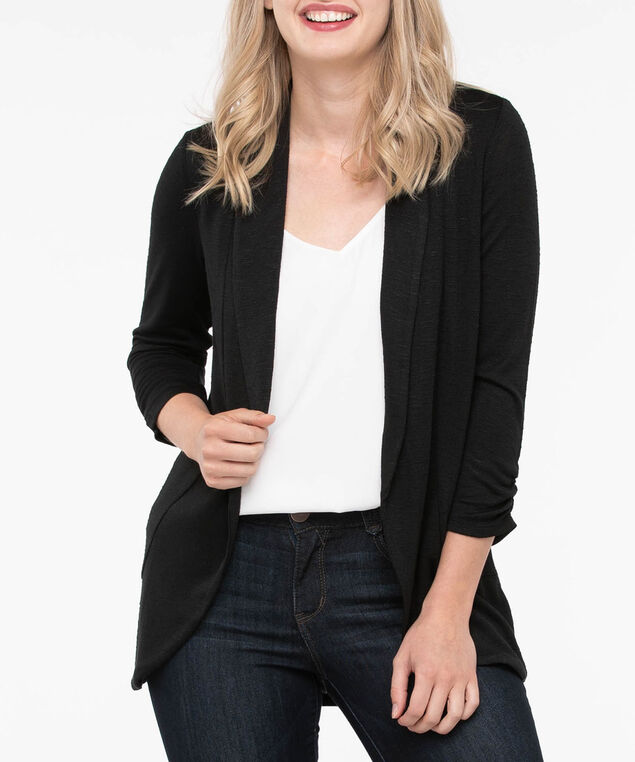 Shawl Collar Cardigan, Black