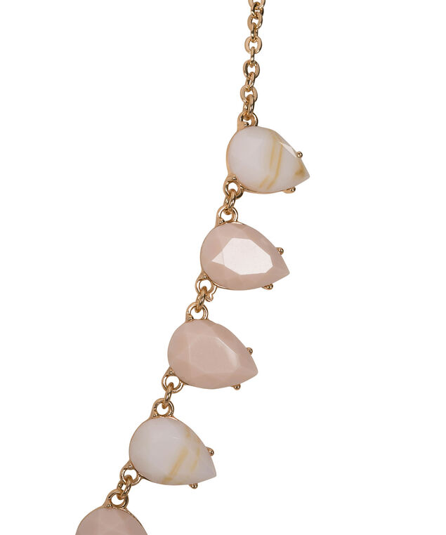 Tear-Shaped Stone Statement Necklace, Taupe/White/Soft Gold, hi-res
