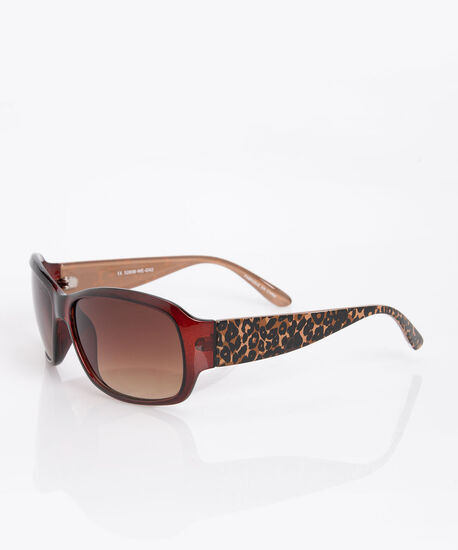 Animal Print Square Sunglasses, Almond/Espresso/Black, hi-res
