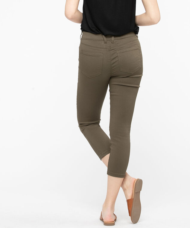 Fly Front Jegging Crop, Basil, hi-res