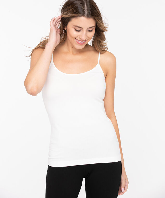 Strappy Scoop Neck Cami, Pearl