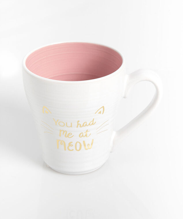 You Had Me At Meow Mug, Rose Petal/Pearl/Gold, hi-res
