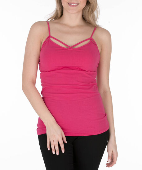 Strappy Criss-Cross Cami, Hot Pink, hi-res
