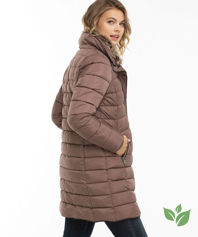 Mid Length Puffer Jacket, Deep Taupe