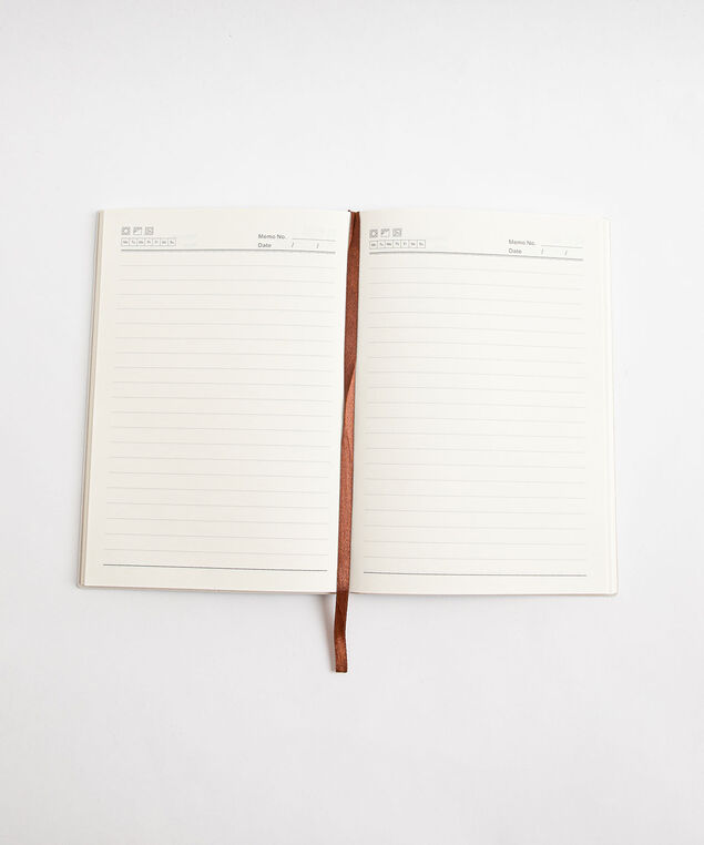 Suede Ruled Notebook, Turquoise
