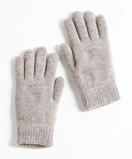 Confetti Knit Glove, Grey Mix, hi-res