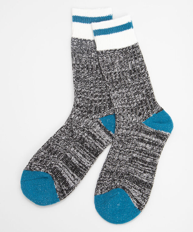 Soft Cabin Socks, Mid Heathered Grey/Steel Blue/Pearl, hi-res