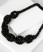 Intertwined Faceted Stone Statement Necklace, Black, hi-res