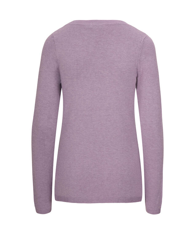Pearl Embellished Pullover Sweater, Mid Purple, hi-res
