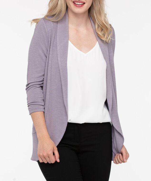 Shawl Collar Cardigan, Mauve, hi-res