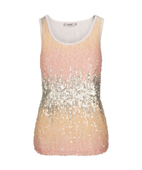 Sequin Ombre Sleeveless Top, Pink/Apricot/Silver/Milkshake, hi-res