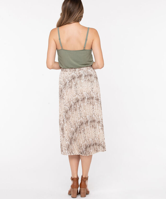 Pleated Midi Skirt, Sand/Mocha, hi-res