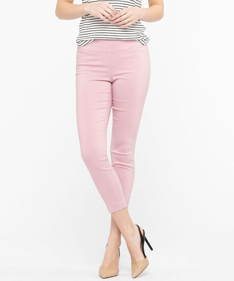 Microtwill Pull-On Crop, Blush, hi-res