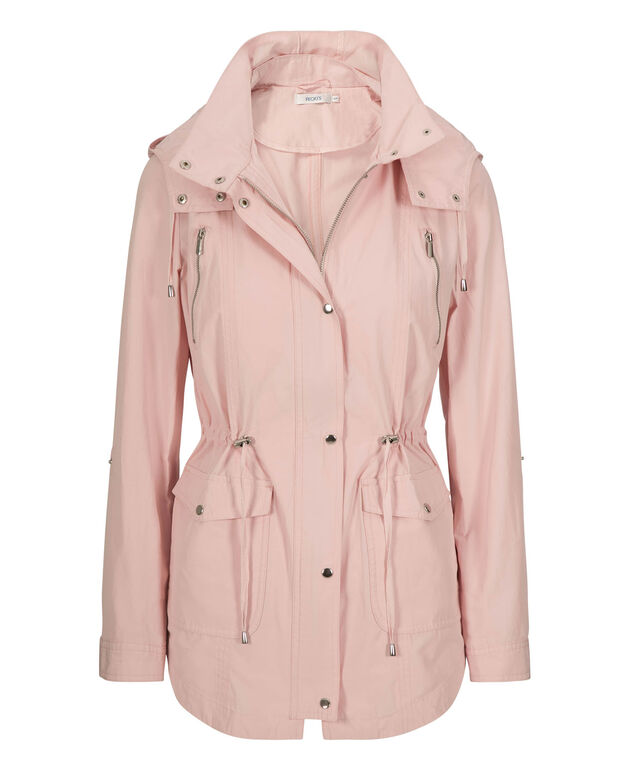 Hooded Cotton Anorak, Pastel Pink, hi-res