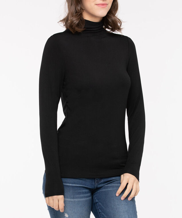 Long Sleeve Layering Essential Turtleneck, Black, hi-res
