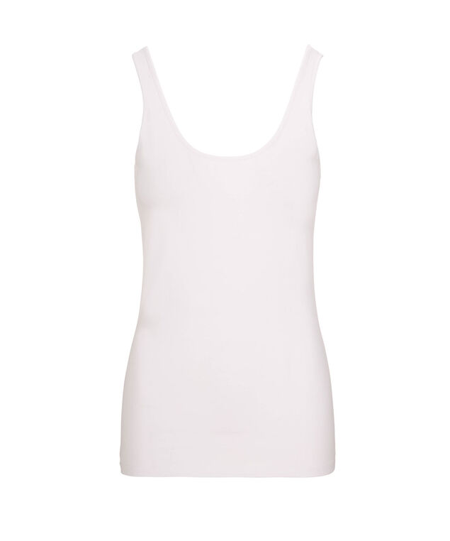 Scoop Neck Cami, White, hi-res