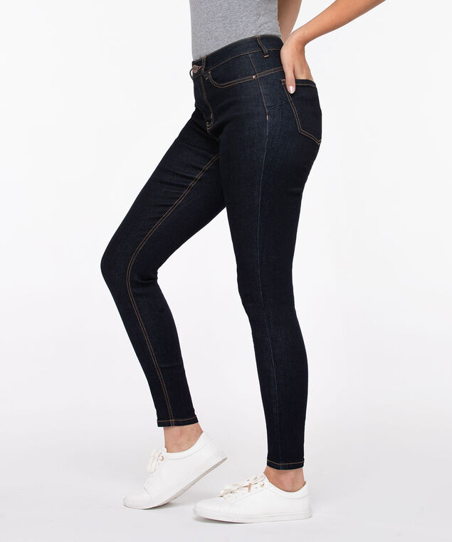 Dark Rinse Fly Front Jegging, Dark Rinse, hi-res