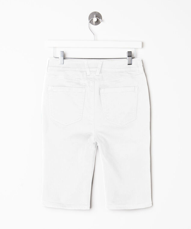 Fly Front Bermuda Short, Off White, hi-res