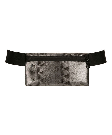 Metallic Fit Belt Bag, Pewter/Black, hi-res