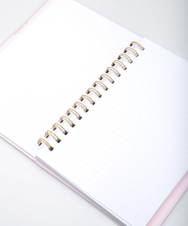 Simply Love Spiral Notebook, Petal Pink/Gold, hi-res