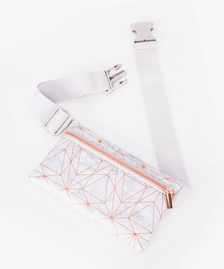 Fitness Belt Pouch, Silver Grey/Rose Gold, hi-res