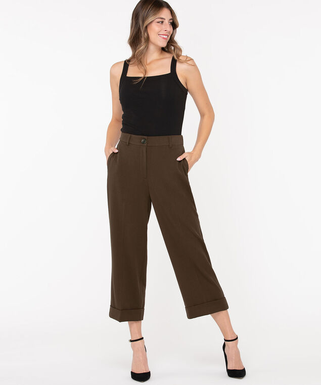 Tri-Blend Cropped Wide Leg, Cold Brew