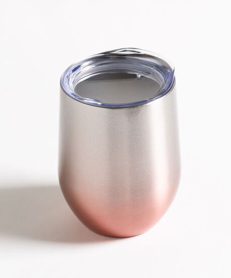 Patterned Insulated Wine Tumbler, Rose Smoke Ombre, hi-res