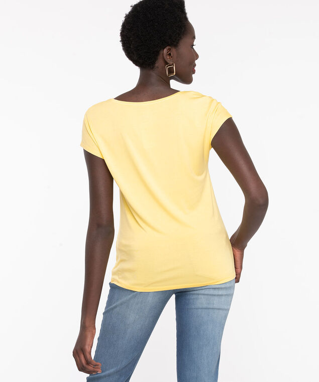 Extended Sleeve Layering Essential Tee, Popcorn