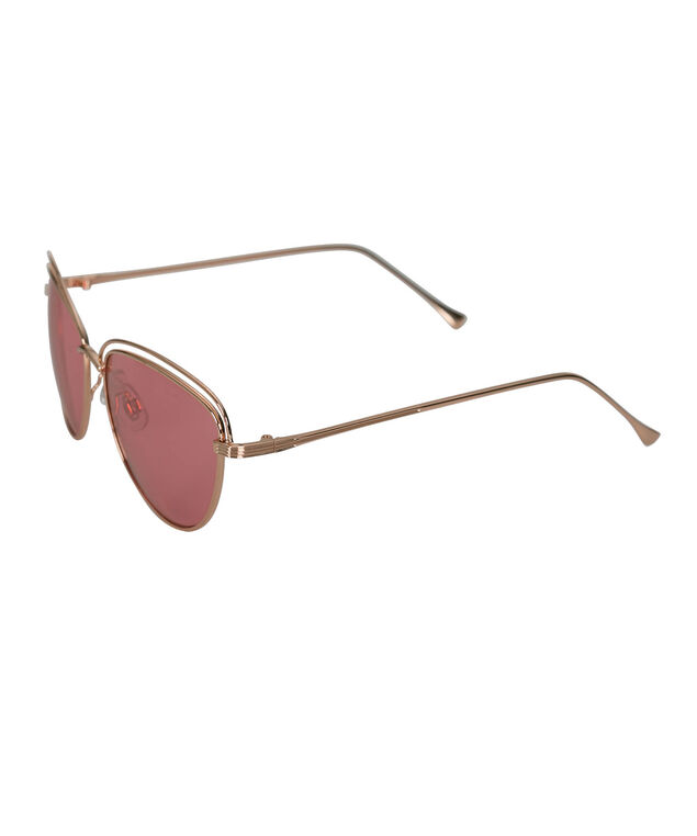 Cateye Rose Gold Metal Sunglasses, Pink/Rose Gold, hi-res