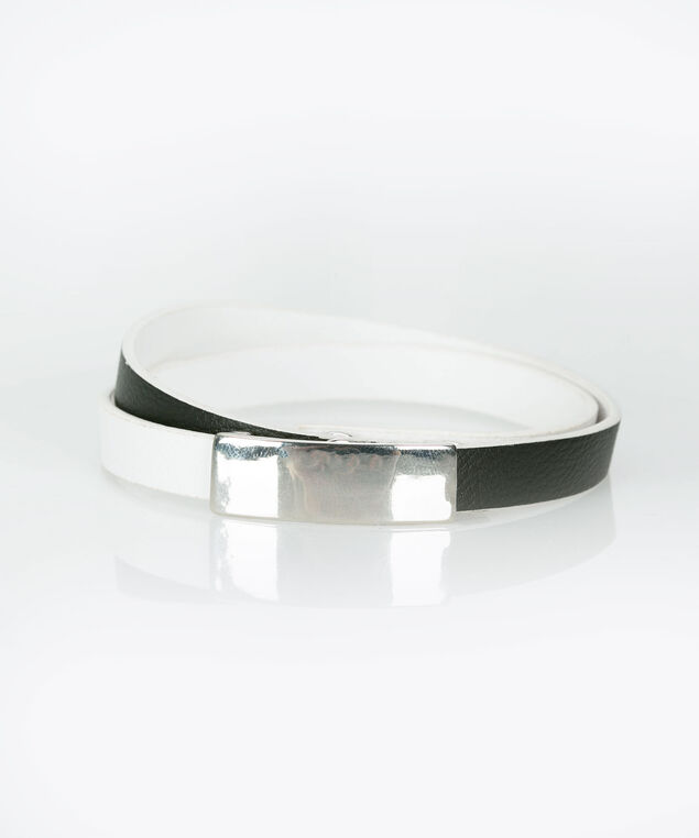 Black & White Wrap Bracelet, Black/True White, hi-res