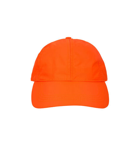 Neon Nylon Baseball Cap, Orange, hi-res