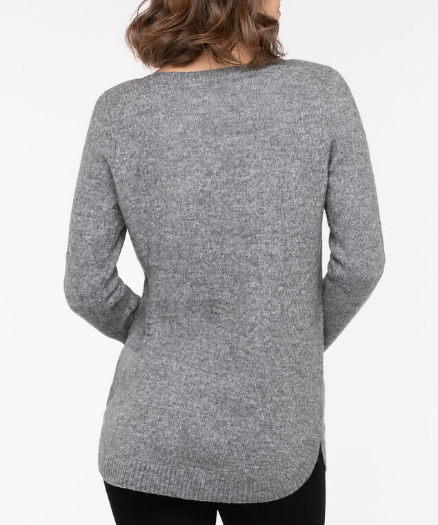 Oh Deer Boatneck Sweater, Mid Heather Grey/Pearl, hi-res