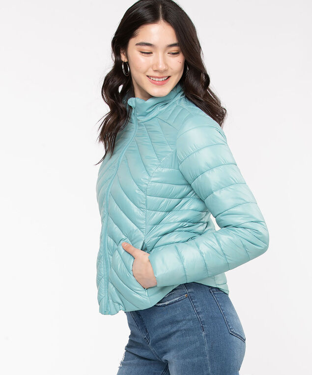 Packable Puffer Jacket, Reef Waters