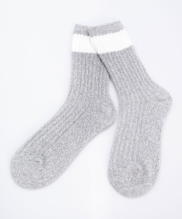 Cozy Cabin Socks, White/Grey, hi-res