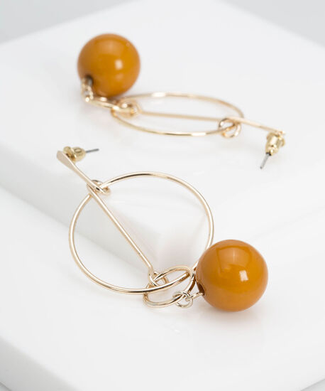 Linear Geo Natural Stone Earring, Marigold/Gold, hi-res