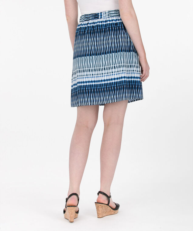 Tie-Dye Print Skirt, Blue/White, hi-res