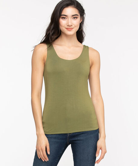 Double Layer Smoothing Cami, Capulet Olive, hi-res